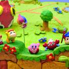 Kirby and the Rainbow Paintbrush: cheery claymation style