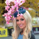 Rosanna Davison pictures as she judged the Gold Fever Best Dressed Lady at the opening of The Punchestown Festival