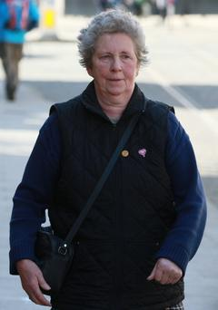 Elizabeth Lavin, of Calverstown, Kilcullen, Kildare, pictured leaving the Four Courts earlier this week Courts Collins