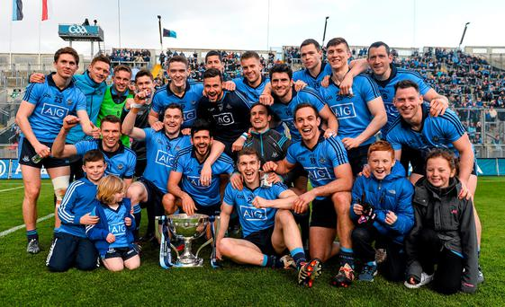 Dublin celebrate their Allianz NFL Division 1 title