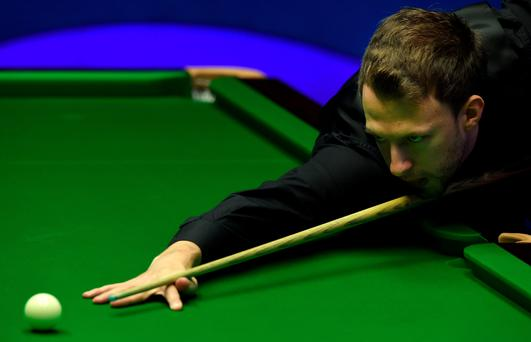 Judd Trump is just one frame away from securing a semi-final berth at the World Snooker Championships