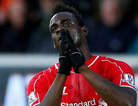 Mario Balotelli look slike he is heading for the door at Liverpool