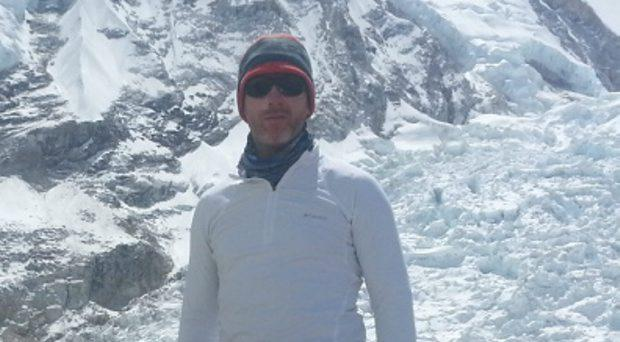 Paul Devaney, pictured at Everest base camp the evening before the earthquake