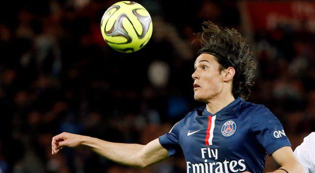 Paris St Germain striker Edinson Cavani