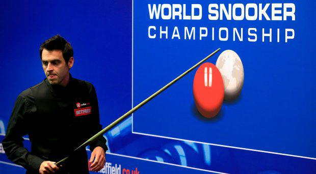 Ronnie O'Sullivan during his quarter final match against Stuart Bingham