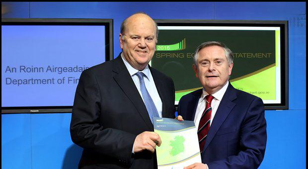 Minister for Finance Michael Noonan and Minister for Public Expenditure Brendan Howlin