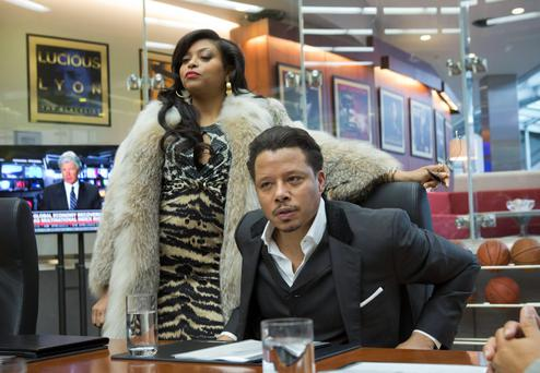 EMPIRE: Cookie Lyon (Taraji P. Henson, L) visits Lucious Lyon (Terrence Howard, R) to claim her share of the company in the premiere episode of EMPIRE. Chuck Hodes/FOX
