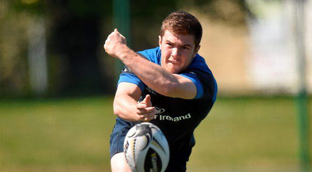 21 April 2015; Leinster's Luke McGrath in action during squad training. UCD, Dublin. Picture credit: Pat Murphy / SPORTSFILE