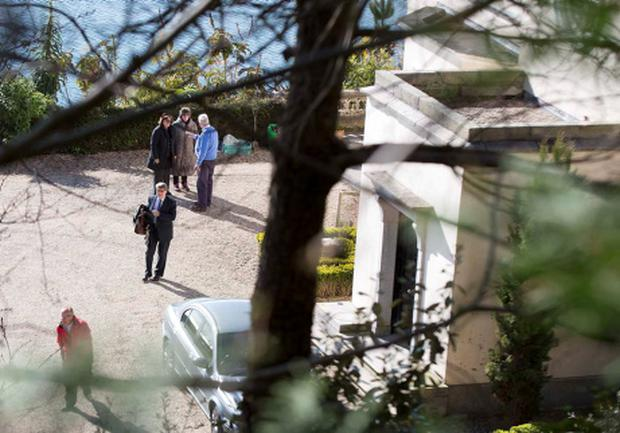Brian and Mary Pat O'Donnell depart their Gorse Hill mansion. (Photo: David Conachy)