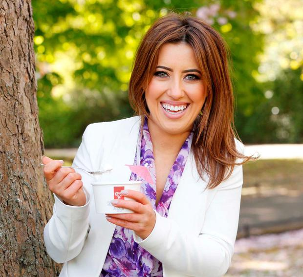 Lottie Ryan, pictured in Dublin at the launch of the first HB Hazelbrook Farm Ice Cream