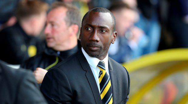 Burton Albion's manager Jimmy Floyd Hasselbaink