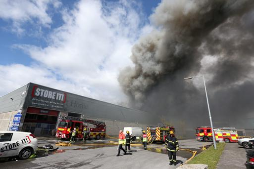 Fire at Ballymount (Photo: Steve Humphreys)