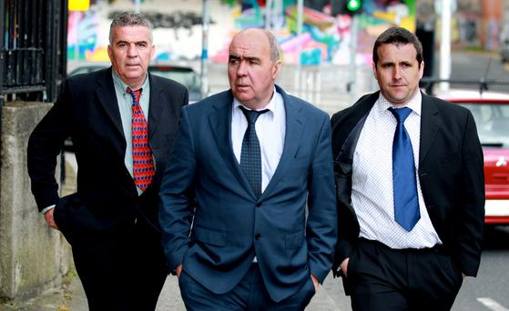 Martin and Patrick O'Donnell (L) and Patrick Coyle (R). All three allege they were assaulted by gardai during the protest near Bellanaboy Bridge on January 19th 2007.
