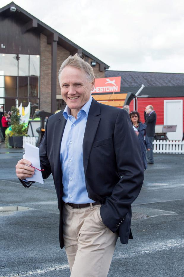 Joe Schmidt at the second day of the Punchestown Festival