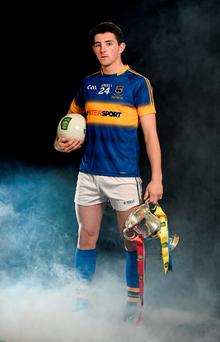 Ahead of Saturday's final against Tyrone, Tipperary captain Colin O'Riordan with the trophy for the EirGrid All-Ireland U21 football championship