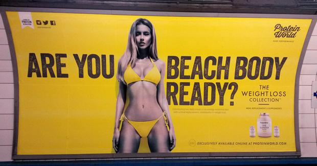 These posters have been defaced on the London Underground