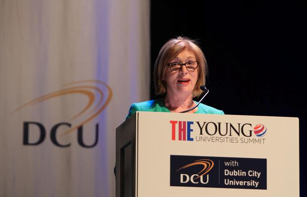 Minister Jan OSullivan TD, Minister for Education and Skills addressing the Times Higher Education (THE) Young Universities Summit at DCU