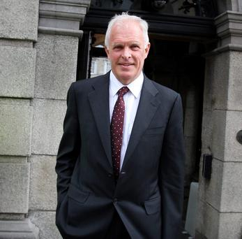 Former AIB group chief executive Eugene Sheehy, a witness at the Oireachtas Banking Inquiry yesterday. Photograph: Tom Burke