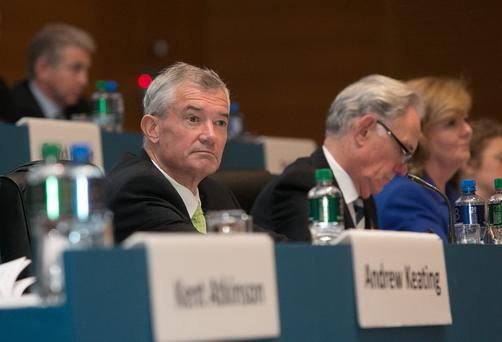 Bank of Ireland chief executive Richie Boucher at Bank of Ireland's AGM in Dublin yesterday. Photo: Gareth Chaney