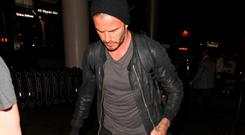 David Beckham jets to Morocco