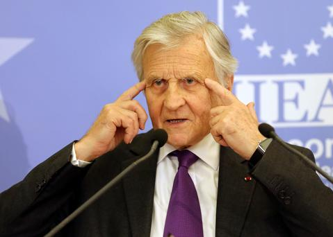 Jean-Claude Trichet, former President of the European Central Bank pictured during his address to the Institute and International and European Affairs and members of the Oireachtas Banking Inquiry at the Royal Hospital Kilmainham. Pic Frank Mc Grath