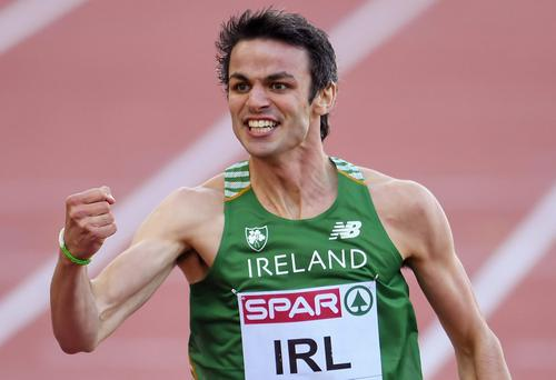 The men's squad is Ferrybank hurdler Thomas Barr (pictured), who secured World Championship qualification with his 49.08 season opener, Shercock's Craig Lynch (47.35 last week), Crusaders' Brian Murphy, Richard Morrissey and Clonliffe's Brian Gregan and Dara Kervick