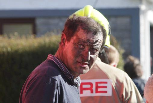 Thomas Brosnan rescued his 86-year-old father William from a house fire in Corofin, Co Clare, yesterday