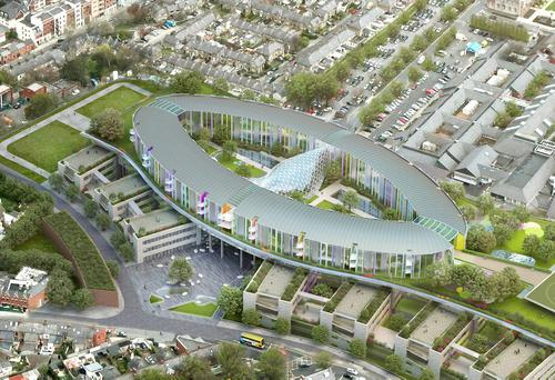 Designers' plans for the national children's hospital, which is proposed for the campus of St James's Hospital, in Dublin