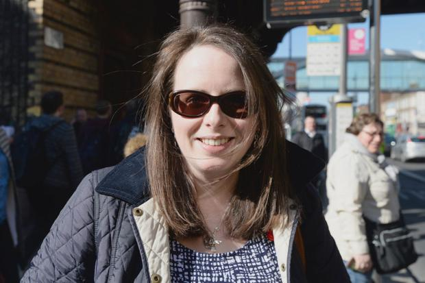 30/04/15. Emma Francis from Donegal living in Dublin Voxpop about Bus strike. Justin Farrelly.