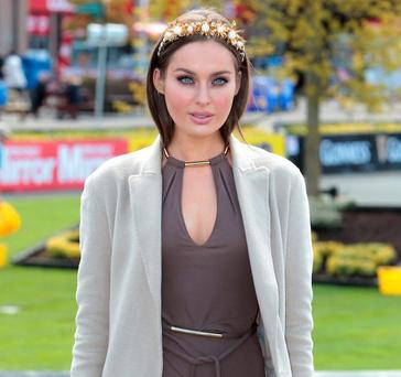 Roz Purcell judges Best Dressed at Punchestown Racecourse