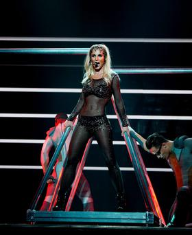 LAS VEGAS, NV - MARCH 04: (EXCLUSIVE COVERAGE) Britney Spears performs at her