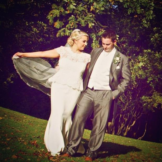 Bláthnaid pictured with her husband Gerard on their wedding day last October