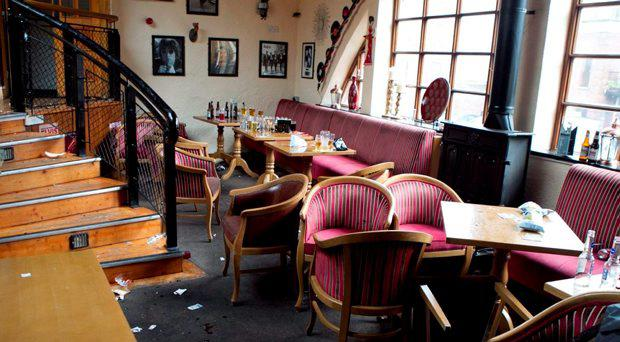 The Castle Inn pub in Rathfarnham after the incident