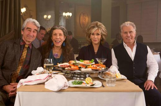 Sam Waterston, Lily Tomlin, Jane Fonda and Martin Sheen in the Netflix Original Series