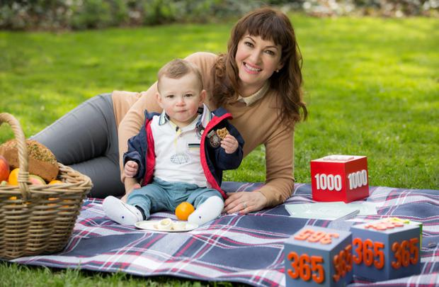Maura Derrane and her son Cal. Picture: Naoise Culhane