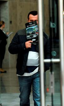 Karl Dempsey leaving the Criminal Courts of Justice on a previous occassion. Picture: Caroline Quinn