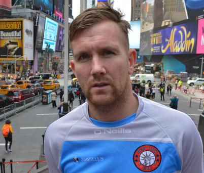 Ex-Wexford footballer PJ Banville in New York, where he now lives