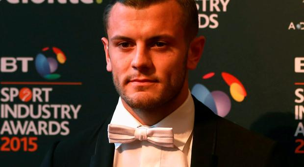 Jack Wilshere – pictured at this week's BT Sports Awards – is the subject of interest from Manchester City