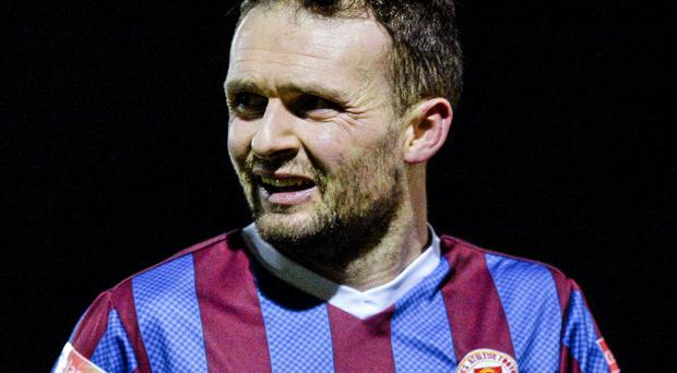 St. Patrick's Athletic's Conan Byrne scored two goals in his side's win over Galway United at Eamonn Deacy Park last night
