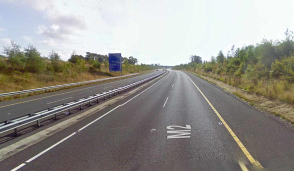 A stretch of the M2 near Ashbourne, close to where the incident occurred. Photo: Google Maps