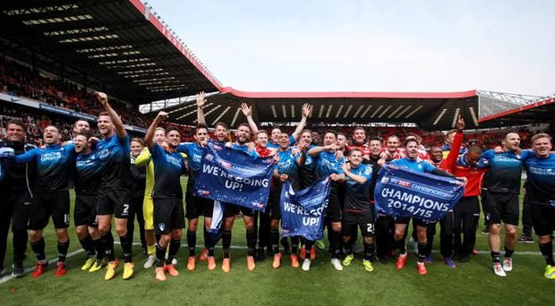 Bournemouth celebrate winning the Sky Bet Football League Championship after the game Action Images via Reuters / John Marsh Livepic