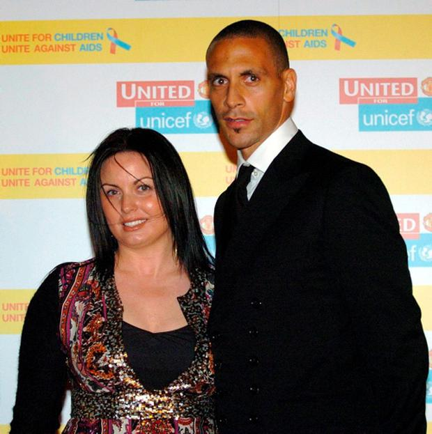 Rio Ferdinand and his wife Rebecca Ellison who died following a battle with cancer