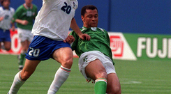 Soccer legend Paul McGrath topped the popularity poll for the years 1985-1994