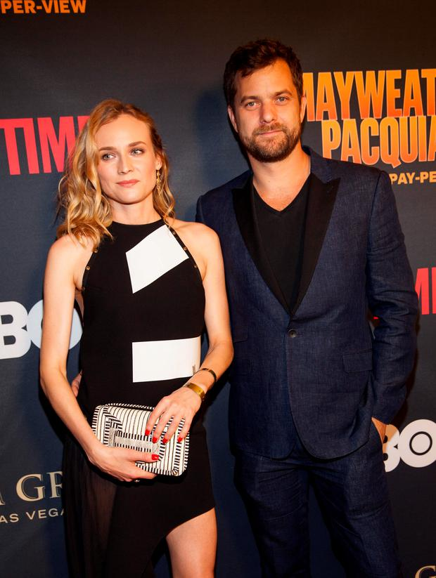 Joshua Jackson and Diane Kruger pose on the red carpet at the Mayweather VS. Pacquiao VIP Pre-Fight Party at MGM Grand on Saturday, May 2, 2015, in Las Vegas. (Photo by Andrew Estey/Invision/AP)