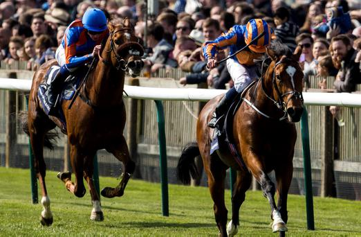 Ryan Moore steers Gleneagles clear of the field to land the 2,000 Guineas at Newmarket