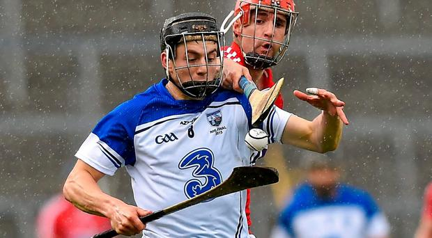 Waterford's Jamie Bannon attempts to get away from Cork's Stephen McDonnell during their clash in Semple Stadium