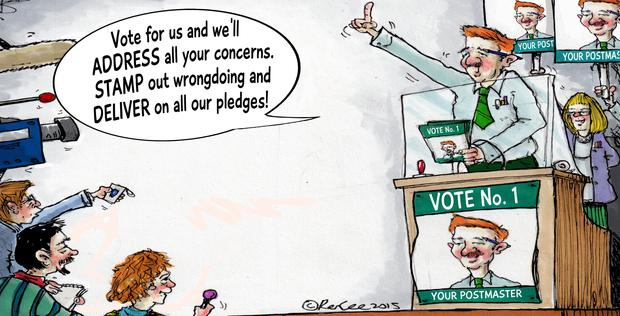Cartoon - Postmasters Election