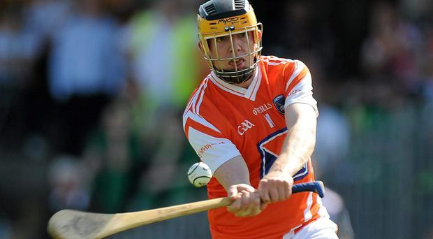 Armagh's Ryan Gaffney finished top scorer with 1-6 and his side held a 2-6 to 1-8 half-time lead