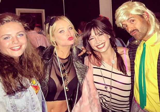 Laura Whitmore with top model Daisy Lowe (centre left) Pic: Laura Whitmore/Instagram