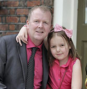 Kevin Shorthall, from Clondalkin, Dublin, with his daughter Louise (9)